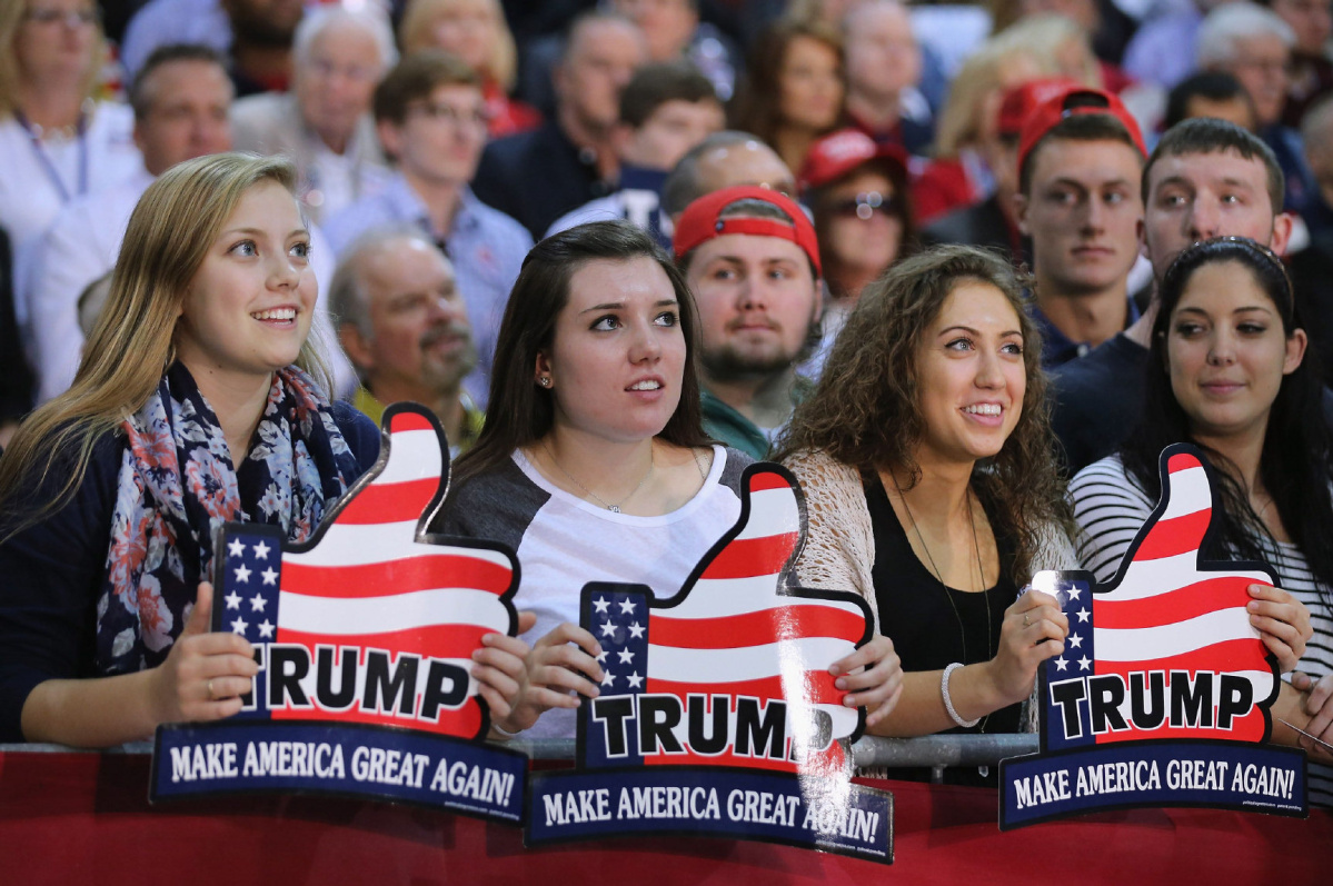 Republicans voters are 99.9 % all white